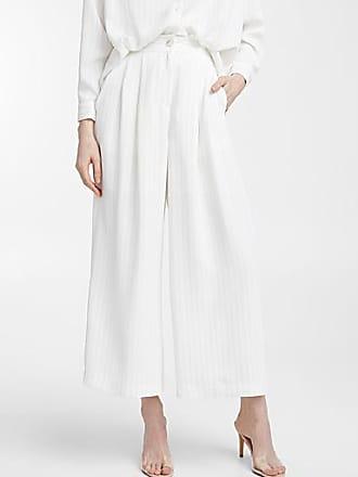 Icone Ivory fine-stripe pant