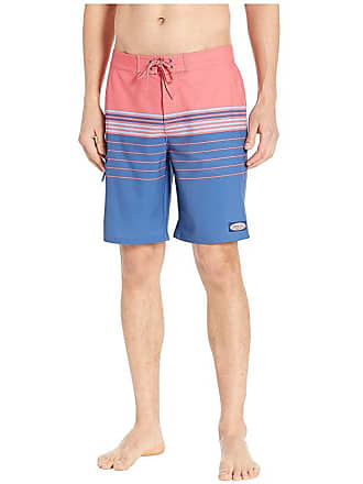 cb19d800e437de Delivery: free. Vineyard Vines Stripe Stretch Boardshorts (Jetty Red) Mens  Swimwear