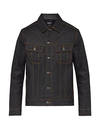 A.P.C. A.p.c. - Rick Padded Waxed Denim Jacket - Mens - Indigo