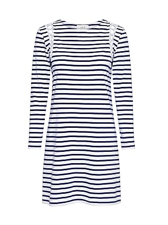 A.L.C. Chapman Striped Shoulder Lace-up Mini Dress Stripe