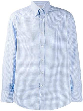 Brunello Cucinelli checked shirt - Azul