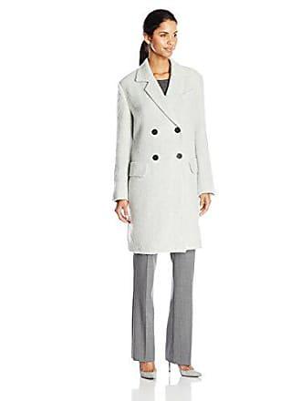 J.O.A. JOA Womens Double Breasted Coat, Light Blue, Small
