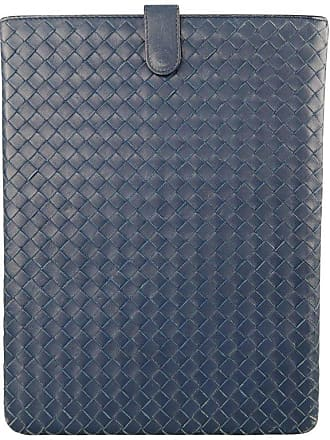 8af84323e73c Bottega Veneta Navy Woven Intrecciato Leather Ipad Tablet Case