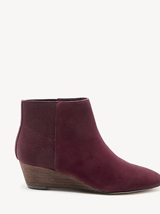 Sole Society Womens Aydie Wedges Bootie Wine Size 5 Suede From Sole Society