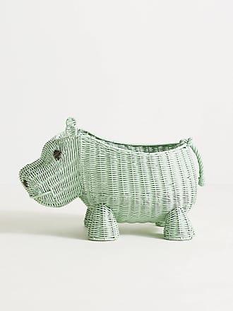 Anthropologie Hippo Wicker Basket