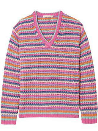 Marc Jacobs Marc Jacobs Woman Striped Cashmere Sweater Pink Size XL
