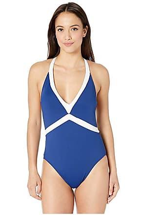 9964abcca4 Ralph Lauren Bel Aire V-Neck Mio One-Piece (Indigo) Womens Swimsuits