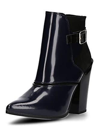 7f74aa50082271 Buffalo London Damen Schuhe Stiefeletten hochwertiger Leder-Kombi