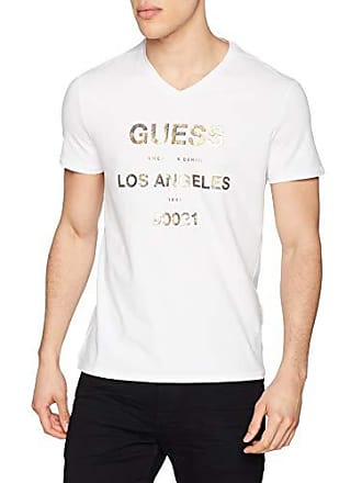662115d3aebd Guess VN SS Logo T-Shirt, Bianco (True White A000 Twht),