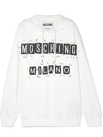 Moschino Sweat À Capuche En Jersey De Coton À Ornements - Blanc e60ebae79518