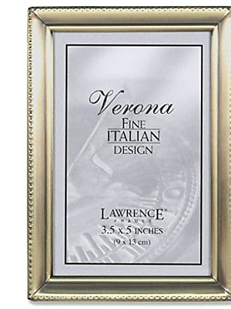 Lawrence Frames 11435 Antique Gold Bead Picture Frame, 3.5 by 5-Inch