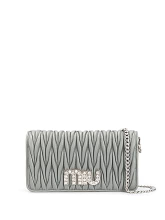 Miu Miu Matelassé clutch bag - Grey