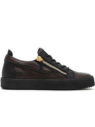 bc0652303b79f Giuseppe Zanotti Giuseppe Zanotti Woman Snake-effect Leather Sneakers Black  Size 35