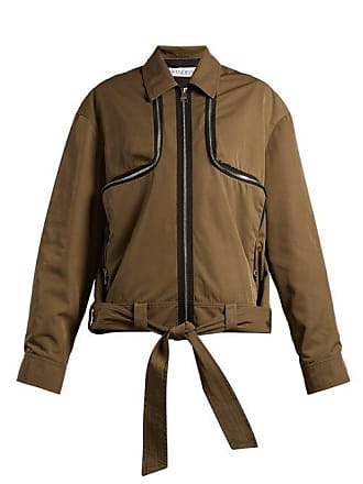 J.W.Anderson Jw Anderson - Zipped Twill Jacket - Womens - Khaki