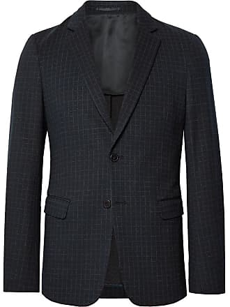 Theory Navy Clinton Checked Stretch-ponte Blazer - Navy