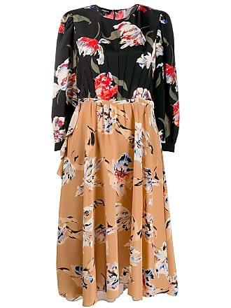 Rochas Vestido midi com estampa floral - Preto