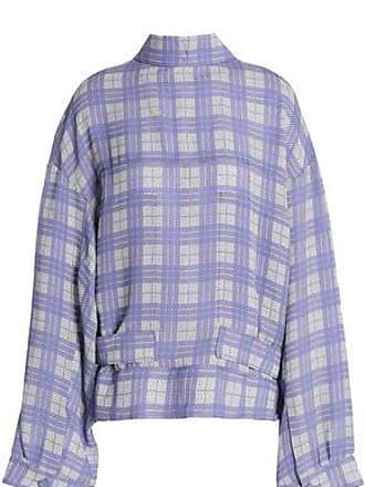 Joseph Joseph Woman Royce Checked Canvas Jacket Lavender Size 34
