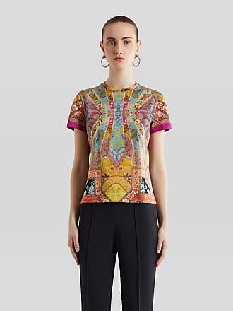Etro T-shirt Mit Floralem Print, Damen, Fuchsia, Größe 38