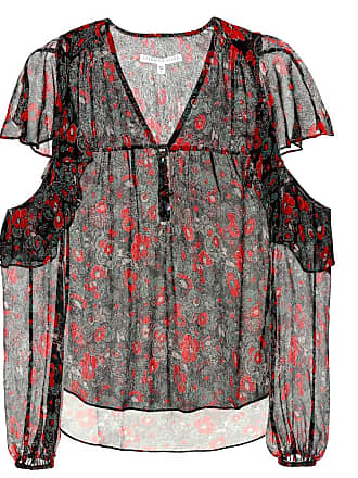 Veronica Beard Blakely foral-printed silk blouse
