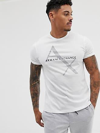 Armani large text logo t-shirt in white - White