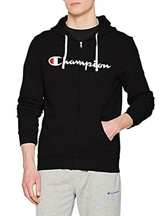 07789dd76a3f Champion Hooded Full Zip Sweatshirt Sweat-Shirt à Capuche Homme Noir (NBK  Kk001)