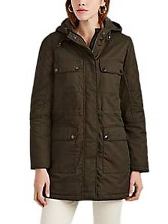 Barneys New York Womens Cotton Twill Parka - Green Size XL