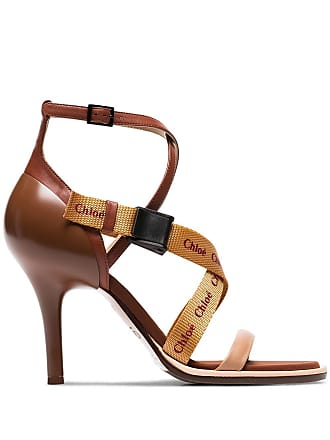 69d575dd1 Chloé brown veronica 90 leather sandals