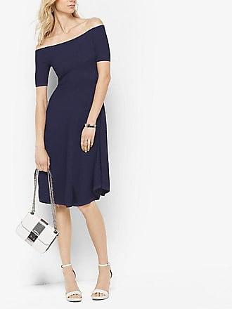 Michael Kors Stretch-Viscose Off-The-Shoulder Dress