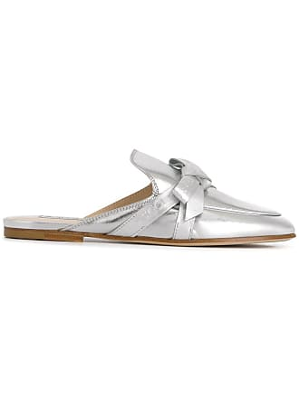 Tod's bow detail mules - Silver