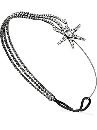 Jennifer Behr Izara Silver-tone Crystal Headband