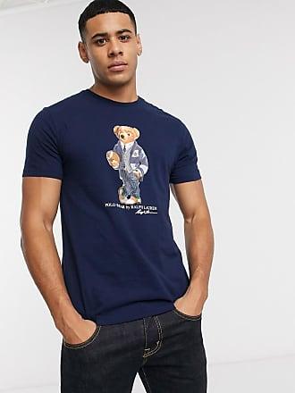 Polo Ralph Lauren T-shirt blu navy con logo a orso