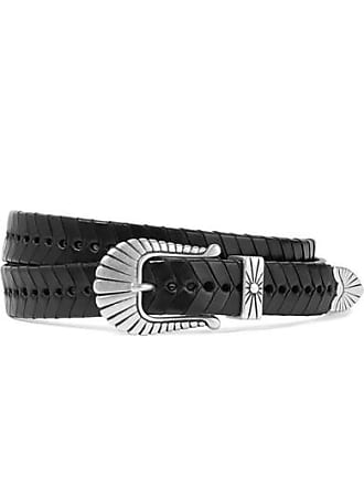 Isabel Marant Jigoo Woven Leather Belt - Black