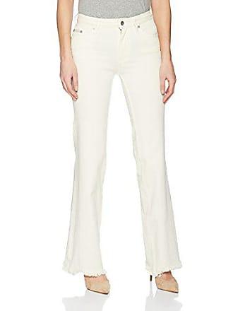 Calvin Klein Jeans Womens High Rise Wide Leg Jean, egret, 29