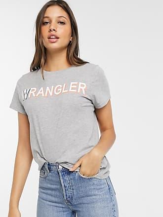Wrangler T-shirt rétro con logo-Grigio