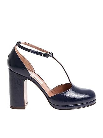 d2542242b32 L autre Chose Blue patent leather t-strap shoes