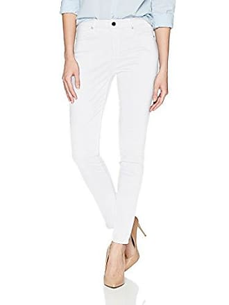 Ellen Tracy Womens Newport Highrise Skinny Jean, White, 6