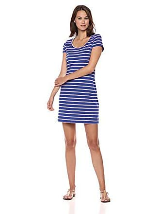 0a165877aa Lilly Pulitzer Womens Short Sleeve Beacon Dress, Twilight Blue Coastal  Shell Stripe XXS