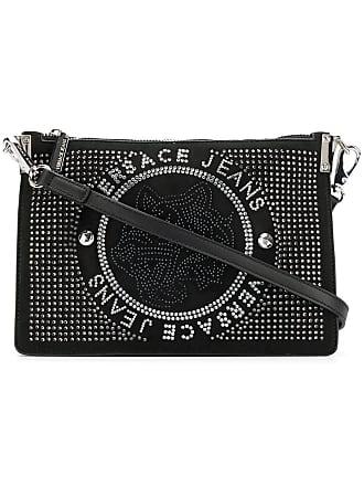 Versace Jeans Couture Bolsa de ombro com tachas - Preto