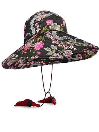 7866d5f577a11 Gucci Tasseled Floral-jacquard Hat - Black