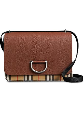 b87cbe751632 Burberry The Medium Vintage Check and Leather D-ring Bag - Brown