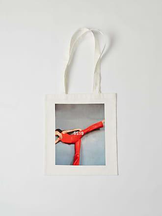 Acne Studios SP-UX-BAGS000001 White Printed tote bag