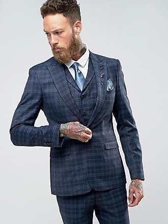 Rudie Chaqueta de traje súper ajustada azul a cuadros de Rudie ea5936ab1b3