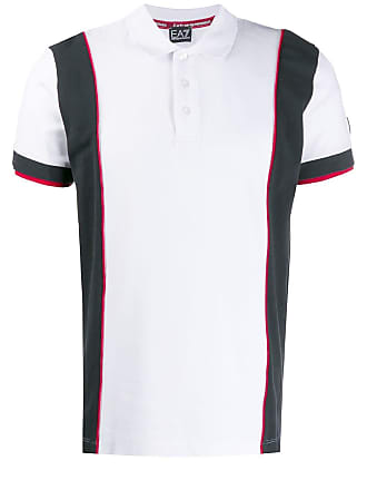 Emporio Armani rear logo polo shirt - White