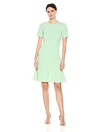 Donna Morgan Womens Split Sleeve Fit and Flare Dress, Mint, 12