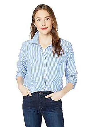 45676085156 J.crew Womens Long-Sleeve Striped Shirt, Banker Blue, XL