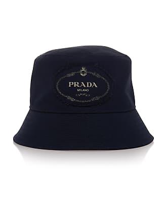 Prada Savoy Navy Canvas Bucket Hat