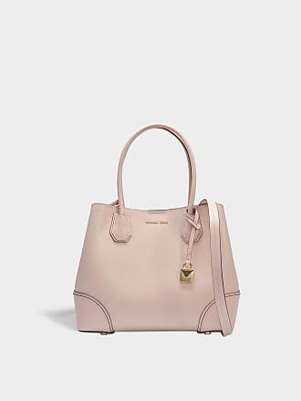3bf74f3eb66a Michael Michael Kors Mercer Gallery Medium Center Zip Tote Bag in Soft Pink  Grained Calfskin