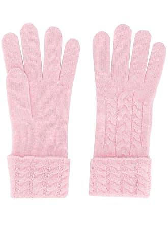 N.Peal Par de luvas de tricô - Rosa