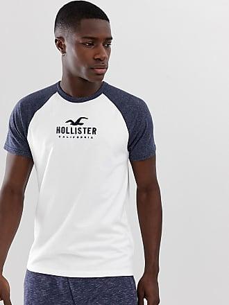 ebfabed10228d Hollister Baseball-T-Shirt mit Raglan-Ärmeln und Logo in Weiß - Weiß