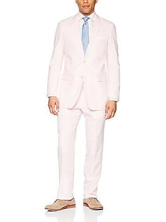 U.S.Polo Association Mens Cotton Suit, Seersucker Pink/White, 44 Short